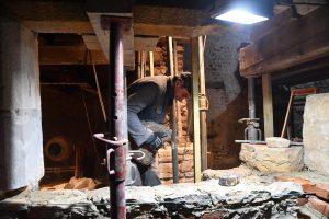 Rénovation en cours d'un bâtiment démonstrateur à Cahors