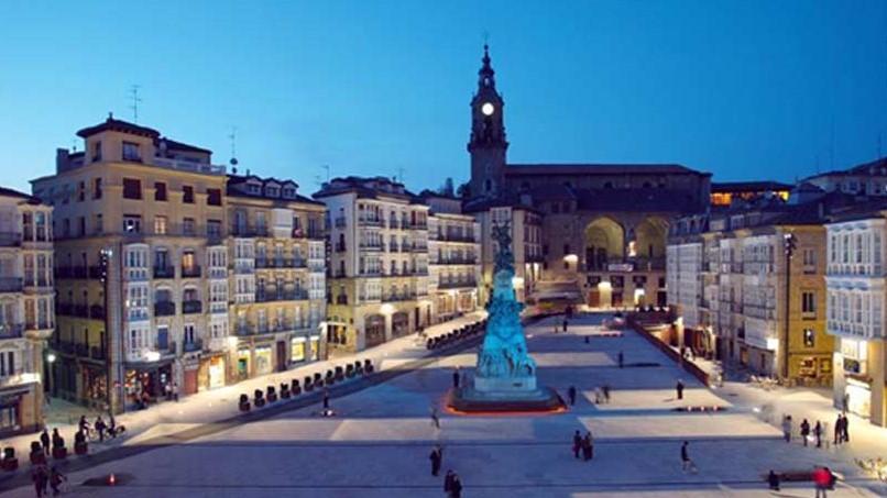 Paysage de la ville de Vitoria-Gasteiz, dans laquelle se trouve l'un des bâtiments démonstrateurs du projet Ener'pat